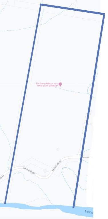 google map of moo river farm property boundaries